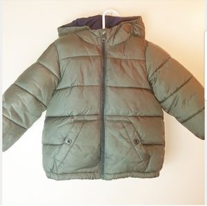 ZARA Green Puffer Coat for Boys